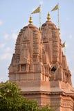 与多云天空的印地安寺庙照片 库存照片