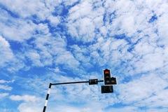 与多云的低角度 免版税库存图片