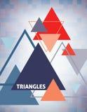 与多彩多姿的三角的几何模板 向量 免版税库存图片