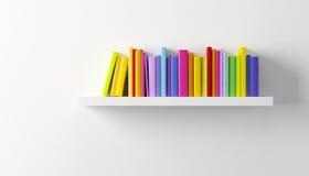 与多彩多姿的书的架子 库存例证