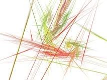 与多彩多姿的光芒的储积的抽象分数维 免版税库存图片