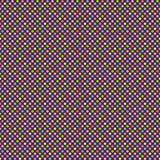 与多彩多姿的圆点的无缝的几何样式 向量 免版税图库摄影