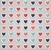 与多彩多姿的心脏的墙纸 免版税库存照片