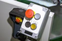 与多彩多姿的按钮的控制板 免版税库存照片