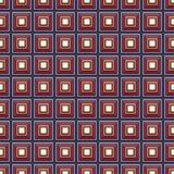 与多彩多姿的正方形的无缝的传染媒介样式 库存图片