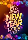 与多彩多姿的bokeh的新年晚会设计点燃背景 免版税库存图片