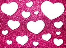 与多心脏形状的情人节 免版税库存照片