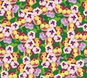 与多色花的无缝的模式 库存图片