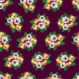 与多色花的无缝的背景 免版税库存照片