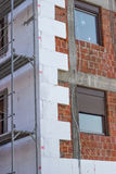 与多苯乙烯的墙壁绝缘材料 免版税库存照片