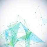 与多角形抽象形状的传染媒介背景, 库存图片