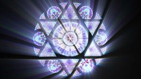 与大卫王之星的彩色玻璃(无缝的圈)