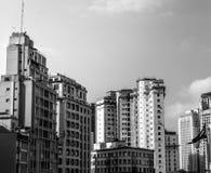 与大厦的地平线在São保罗,巴西 库存照片