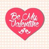 与大心脏的简单的情人节卡片 免版税库存图片
