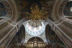 与大教堂拱顶式顶棚的内部  库存图片