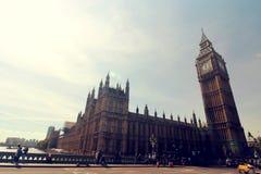 与大本钟的伦敦场面 免版税库存照片