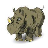 大犀牛 皇族释放例证