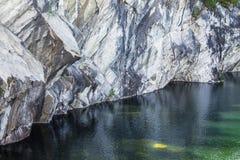 与大理石猎物的风景在ruskeala 免版税库存图片