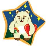 与大红色心脏的玩具熊 免版税库存照片