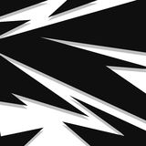 与大胆的剧烈的形状和线的抽象黑白几何背景 向量例证