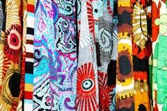 与大胆的模式的愉快的织品 免版税库存照片