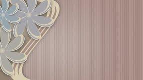 与大花的花卉抽象背景 免版税库存照片