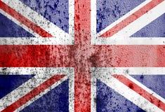 与大英国的旗子的老生锈的金属纹理 免版税库存照片