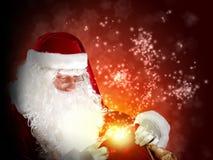 与大袋的圣诞老人 库存照片