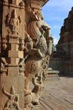 与大象树干,室内天线,马身体,鳄鱼牙,狮子腿的神话动物 图库摄影