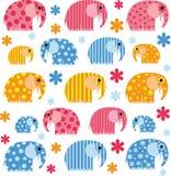 与大象的五颜六色的例证 图库摄影