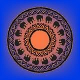 与大象的种族部族坛场 库存照片