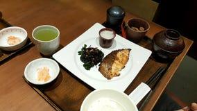 与大集合的大膳食japanesefood的 免版税库存图片