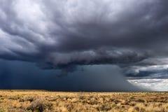 与大雨的雷暴 库存图片