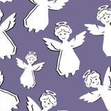 与天使的无缝的背景 库存照片