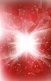 与天使翼和亮光lig的红色垂直的圣诞节背景 图库摄影