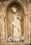 与天使迈克尔和圣洁抹大拉的马利亚和马尔特的Paliotto在Castelvecchio博物馆 维罗纳 免版税图库摄影