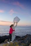 与天空灯笼的晚上传统 免版税库存图片