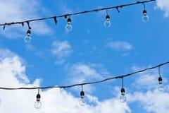 与天空的轻的玻璃 免版税库存图片