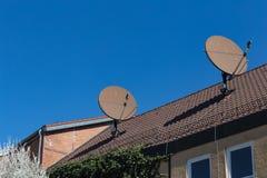 与天线的屋顶 库存图片