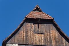 与天线的屋顶 图库摄影