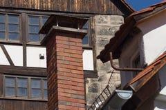 与天线的屋顶 库存照片