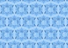 与太阳元素设计的蓝色花卉背景 库存照片