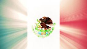 与太阳光线新的质量独特的生气蓬勃的动态行动快乐五颜六色的墨西哥沙文主义情绪的无缝的圈冷却 库存例证