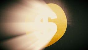 与太阳光线新的质量独特的生气蓬勃的动态行动快乐五颜六色的美元的符号沙文主义情绪的无缝的圈 库存例证