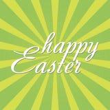 与太阳光芒的愉快的复活节贺卡 向量 库存例证