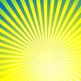 与太阳光芒的抽象背景 免版税库存照片