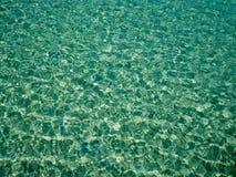与太阳反射的独特的眼光绿色水晶海水表面波纹 背景彩色插图模式无缝的向量水 海洋水纹理 库存图片