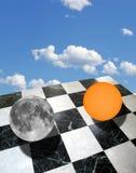 与太阳和月亮的形而上学的构成 免版税库存图片