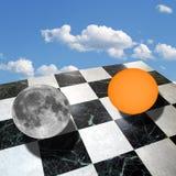 与太阳和月亮的形而上学的构成 库存图片