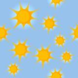 与太阳的无缝的样式 库存图片